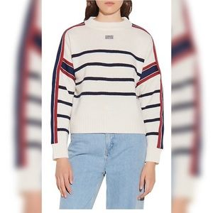 Sandro Saylor Striped Wool Sweater Small